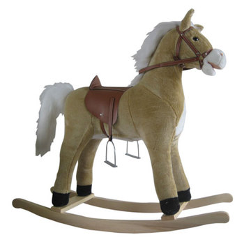 Best quality and factory for Baby Plush Rocking Horse Baby rocking horse LXRH-004 export to Gabon Supplier