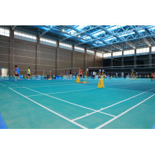 Salle de badminton de structure en acier préfabriquée avec le coût bas