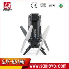 Novo JJRC H51 mini Selfie Rocket drone Com Câmera HD 720 P Wifi Um Retorno de Chave VS H37 mini Drone SJY-H51WH
