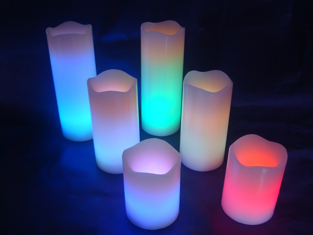 wave end led candle