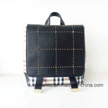 Guangzhou Supplier Lady PU Rivets Leather Backpack (NMDK-040505)