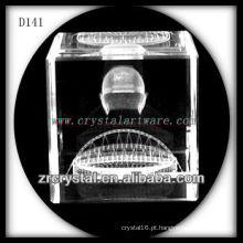 Imagem de sub-superfície de laser K9 3D dentro do cubo de cristal