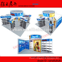 6 by 6 meters expo booth, portable exhibition booth design with four open sides