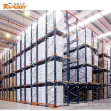 movimentação ajustável do armazenamento do armazém da densidade alta no racking da pálete