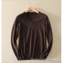 Herren Strickwaren basic style100% Kaschmir Pullover Pullover V-Ausschnitt reine Kaschmir Strickpullover