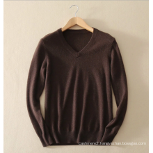 Men's knittwear basic style100% cashmere sweater pullover V-neck pure cashmere knitting sweater