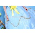 Traje de cospay de la boutique de los niños del vestido del desgaste del partido del color azul vestido de la princesa niños