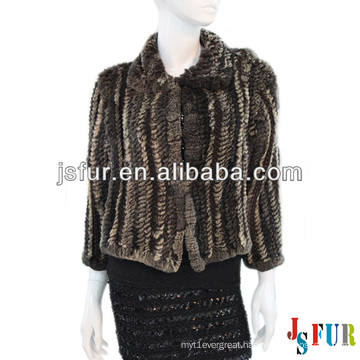 New product hotsale beautiful party rabbit fur warm coat
