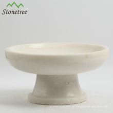 Weiße Marmorfruchtplatte