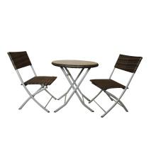 Aluminium extérieur pliant à manger Table et chaise