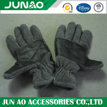 Fleece glove with grip palm