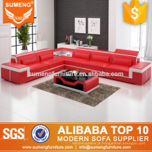 alta qualidade boa venda mobiliário de luxo estilo italiano genuíno conjunto de sofá de canto de couro