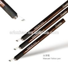 Microblade aguja de la ceja bordado manual de la pluma