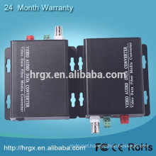 HR Factory price 1 Channel mini video fiber optical transmitter and receiver BNC video2mp4 converter online