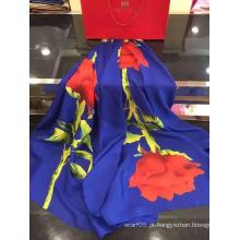 Alta qualidade customizável Digtial impresso cachecol de seda elegante