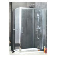 Porte de douche en verre trempé roue à rouleaux en plastique