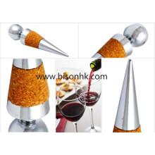 Cortiça de alta qualidade, rolha de garrafa de vinho de aço inoxidável