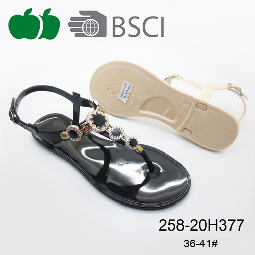 High Quality Summer Beautiful Fashion Lady Pvc Sandals