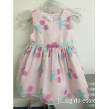 cherry printing flower dress