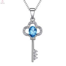 925 Стерлингового Серебра Кулон Значение Ключ Ожерелье