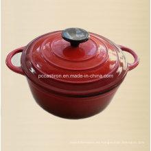 3qt esmalte hierro fundido horno holandés diámetro 22 cm