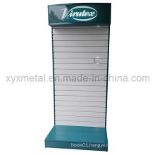 Customized Metal Slat Wall Board Slatwall Tools Exhibition Display Stand with Lighting
