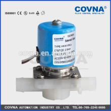 Válvula de solenóide de plástico de pequenas dimensões de acção directa NC / NO