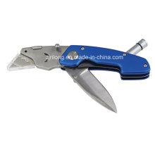 Couteau pliant à double lame avec LED