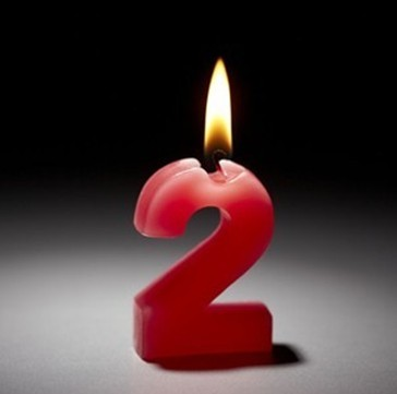 numeral candle 2
