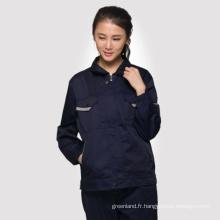 Chemise à manches courtes à l'été Chemises mécaniques Uniformes à 2 pièces
