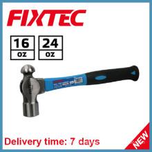 Fixtec Hand Tools 24oz Ball Pein Hammer with Fiberglass Handle