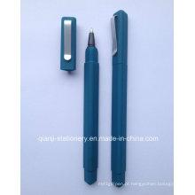 Caneta de promoção de borracha triângulo plástico (p4003)