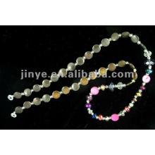 Diseño de moda Shell Bead Crystal Glasses Lanyard