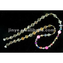 Design de moda Shell Bead Crystal Glasses Lanyard