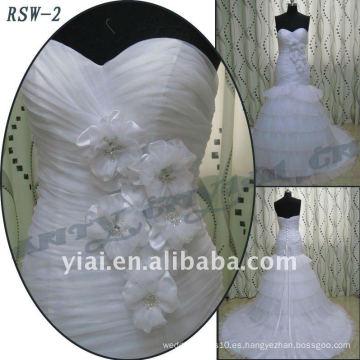 RSW-2 2011 venta caliente nuevo diseño de las damas de moda elegante personalizado real A-line vestido de novia