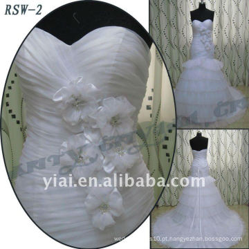 RSW-2 2011 Hot Sell New Design Senhoras Elegante Elegante Personalizado Custom A-line Bridal Dress