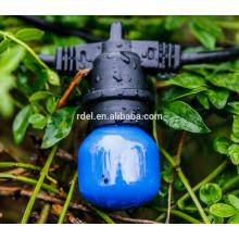 SLT-151 54 FT schwarzes Kabel, 24 Sockel im Freien kommerzielle Schnur Licht, S14 Glühbirnen
