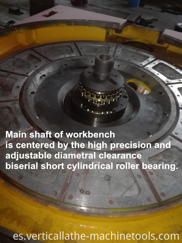 Vertical lathe table