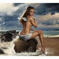 Art nu nu à la main Belle toile nu peinte de peinture pour décoration à la maison (FI-014)