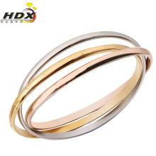 Moda jóias de aço inoxidável de três anéis pulseira
