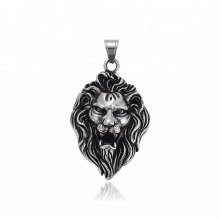 34489 xuping fashion Stainless Steel jewelry black gun color lion head cross pendant