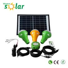 Vertiente de patente LED solar kit de iluminación, iluminación solar regulable Kit, kits de iluminación solar para iluminación de interior