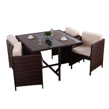 High Quality for Best Patio Furniture Sets,Outdoor Patio Furniture,Garden Table And Chairs Manufacturer in China 4 seater rattan ourdoor dining set export to Peru Suppliers