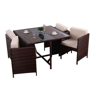 Short Lead Time for for Garden Table And Chairs 4 seater rattan ourdoor dining set supply to Poland Wholesale