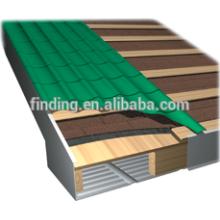 pas cher prépeint tuile de toiture toiture en acier revêtue de feuille/couleur tuile toiture/nouveau produit