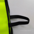 Chaleco de seguridad de malla amarilla fluorescente con cierre de velco