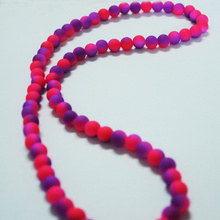 Purple Pink Bead Designs for Long Necklace