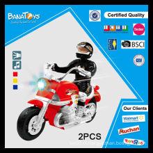 Os melhores brinquedos da motocicleta da fricção com rodas pretas mini motocicletas da roda