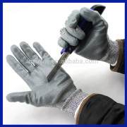 Yhao Brand colored Nitrile dipped rubber coated anti cut gloves labor safety Protective glove