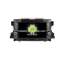 Quad core!car dvd with mirror link/DVR/TPMS/OBD2 for 7inch touch screen quad core 4.4 Android system MAZDA CX-5